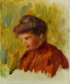 Pierre-Auguste Renoir PORTRAIT DE JEUNE FILLE.PNG