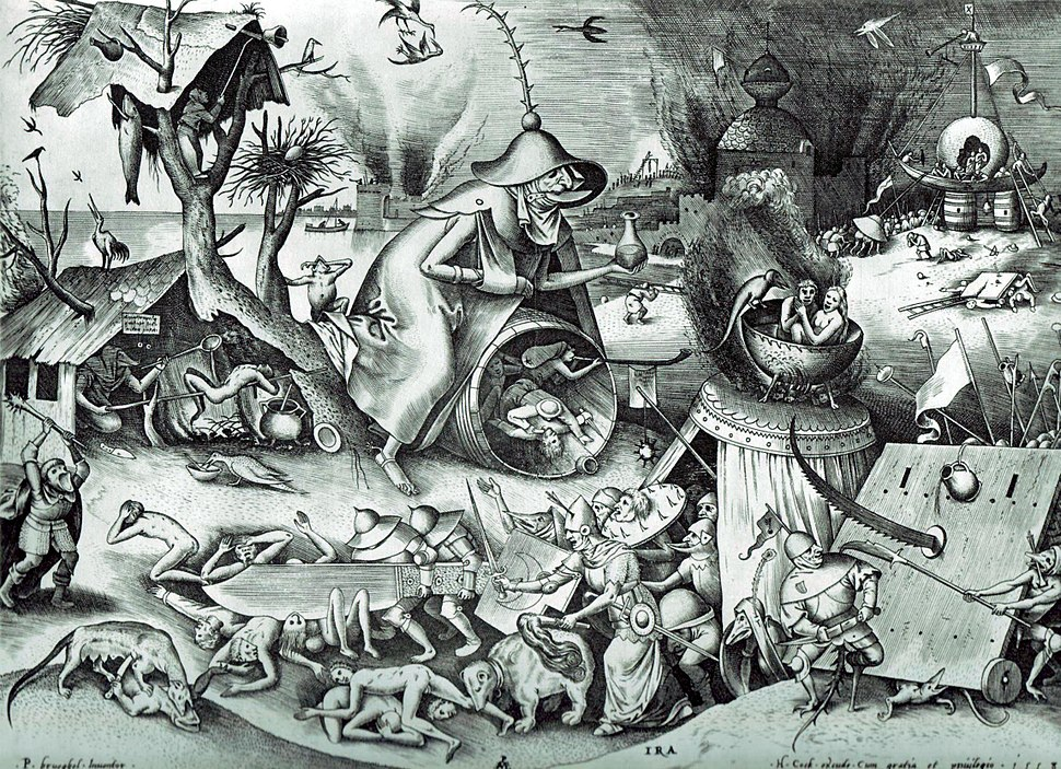 Pieter Bruegel the Elder- The Seven Deadly Sins or the Seven Vices - Anger