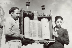 Torah scroll of the village synagogue in the 1950s