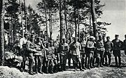 Pilsudski and officers 1915