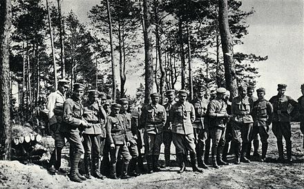 Pilsudski and his officers, 1915 Pilsudski and officers 1915.jpg