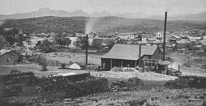 View of the mill and town of Pinal, c. 1880.