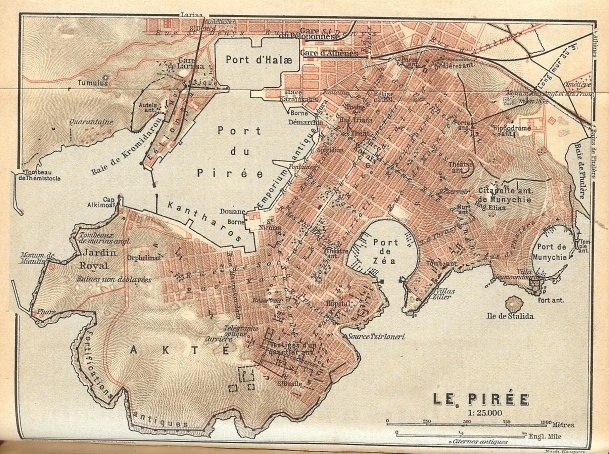 Piraeus map 1908