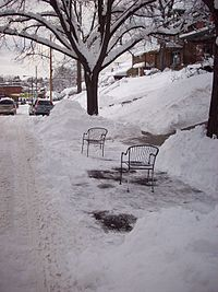 Two Patio Chairs Reserving A Shoveled Out Street Parking Space In  Pittsburghu0027s Squirrel Hill Neighborhood