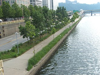 Pittsburgh Cultural Trust - The Pittsburgh Cultural Trust commissioned the Allegheny Riverfront Park in Downtown Pittsburgh in the early 1990s