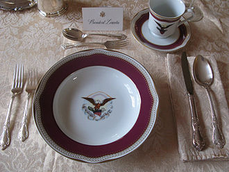 Armorial ware - Replica White House china with the arms of the United States