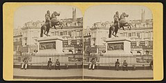 Place des Victoires, Statue de Louis XIV, between 1860 and 1870 - Library of Congress.jpg