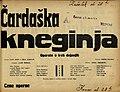 Plakat za predstavo Čardaška kneginja v Narodnem gledališču v Mariboru 12. marca 1931.jpg