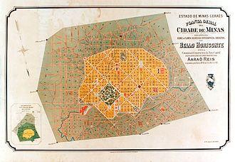 Belo Horizonte - Belo Horizonte plan in 1895.
