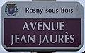 Plaque Avenue Jean Jaurès - Rosny-sous-Bois (FR93) - 2021-04-15 - 1.jpg