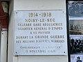 Plaque Cinquantenaire Armistice 1918 Gare Noisy Sec 2.jpg