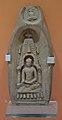 Plaque Showing Seated Buddha Inside Temple - Terracotta - ca 10th Century CE - Pala Period - Nalanda - ACCN 9477-A11570 - Indian Museum - Kolkata 2016-03-06 1705.JPG