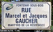 Plaque rue Marcel Jacques Gaucher Fontenay Bois 3.jpg