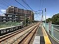 Platform of Shimo-Yamato Station.jpg