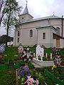 Plesza cemetery and church.JPG