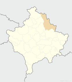 Location of the municipality of Podujevo within Kosovo