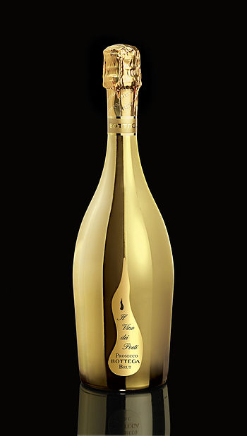 English: Prosecco Gold Bottle