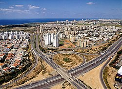 View of South Netanya from Poleg neighbourhood