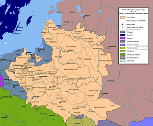 Prussian Partition - Image: Polish Lithuanian Commonwealth in 1772