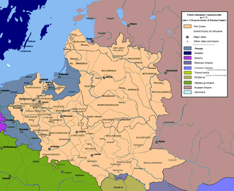 Austrian Partition - Image: Polish Lithuanian Commonwealth in 1772