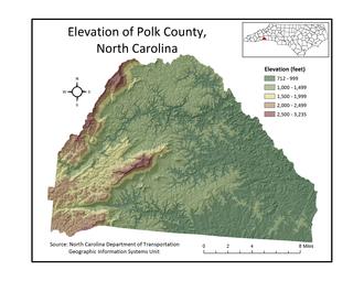 Polk County, North Carolina - Polk County Elevation