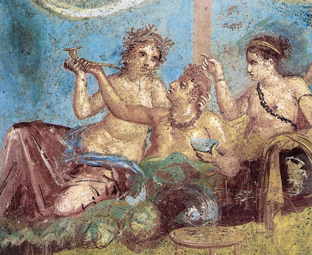 Pompeii - Casa dei Casti Amanti - Banquet