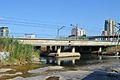 Pont del ferrocarril sobre el riu Túria, València.JPG