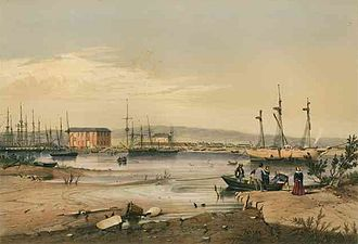 Port Adelaide - George French Angas, Port Adelaide, 1846, State Library of South Australia
