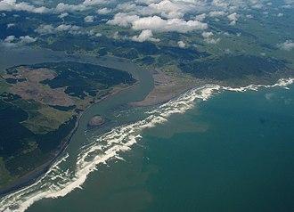 Port Waikato - Aerial view of Port Waikato