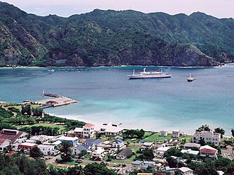 Bonin Islands - Port of Futami, Chichi-jima, Ogasawara Village.