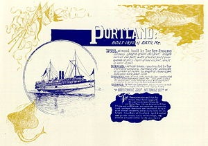 Portland (shipwreck) - Another drawing of Portland by Samuel Ward Stanton.