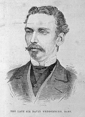 Sir David Wedderburn, 3rd Baronet - Portrait in The Illustrated London News, 30 September 1882