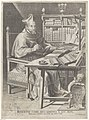 Portret van kardinaal Roberto Bellarmino aan zijn schrijftafel, RP-P-1909-4971.jpg