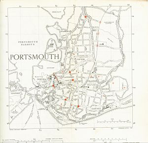 History of Portsmouth - A partial roadmap of part of Portsmouth in 1948