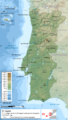 Portugal topographic map-fr.png