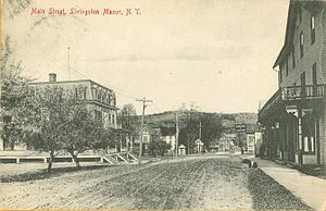 Livingston Manor, New York - Main Street, from a postcard mailed in 1909