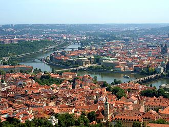 Vltava - The Vltava's bend in Prague