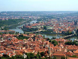 Vltava - The Vltava's bend in Prague