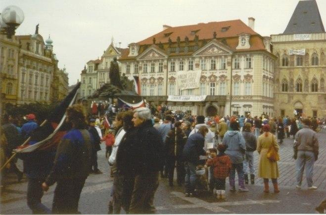 Prague November 1989 - Old Town Square