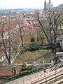 Praha - Zahrada Na valech - View South on Poslanecká sněmovna & Sv.Mikuláše.jpg