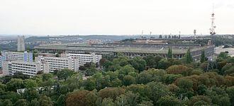 Strahov Stadium - Strahov Stadium as seen from Petřín lookout tower