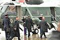 President Barack H. Obama, center, boards Marine One after arriving at Charlotte Air National Guard Base, N.C., June 6, 2013 130606-Z-AW931-586.jpg