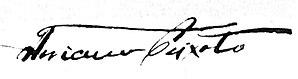 Floriano Peixoto - Image: Presidente Floriano Peixoto assinatura