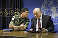 Press conference with SRSG Roger Meece and Force Commander Alberto Dos Santos Cruz in Goma (9024426377).jpg