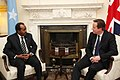Prime Minister David Cameron with H.E. Mr Hassan Sheikh Mohamud, President of the Federal Republic of Somalia in Downing Street, 4 February 2013. (8444381731).jpg