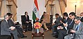 Prime Minister Narendra Modi meeting the President of World Bank Dr. Jim Yong Kim.jpg