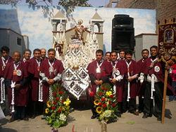 Primera Cuadrilla de Cargadores de San Isidro Labrador en  Lima - Peru.