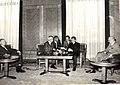Primirea de către Nicolae Ceaușescu, președintele Consiliului de Stat al R.S.R, a unei delegații de specialiști americani condusă de dr. Lee DuBridge, care se află într-o vizită în țara noastră. (25 septembrie 1969).jpg
