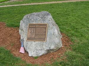 Prince Estabrook - Prince Estabrook memorial in Lexington, Massachusetts.