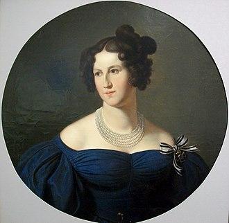 Princess Maria Anna of Hesse-Homburg - 1820 oil painting by Wilhelm Schadow